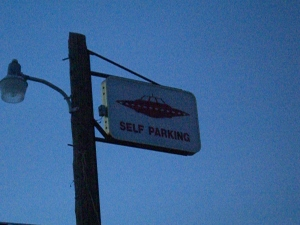 No valet parking for extra terrestrials