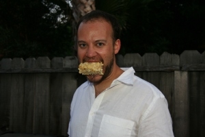 Matt got corn stuck in his teeth. I didn't know how to tell him. These situations are always so uncomfortable...